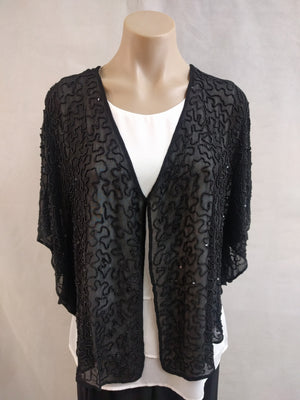 Kaja Beaded Black Jacket - Fashion Focus