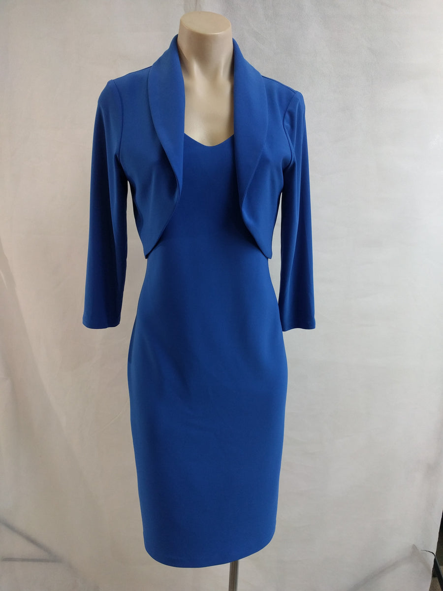Frank Lyman V Neck Royal Dress