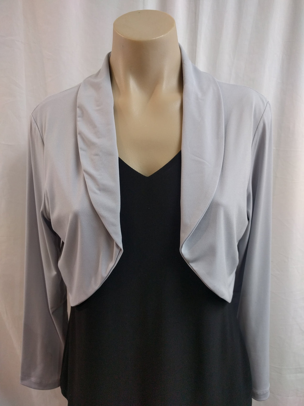LS Silver Knit Bolero - Fashion Focus