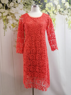 LS Collection Dress Orange - Fashion Focus