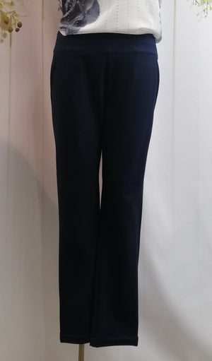 MacJays Noble Ponti Pant - Navy - Fashion Focus