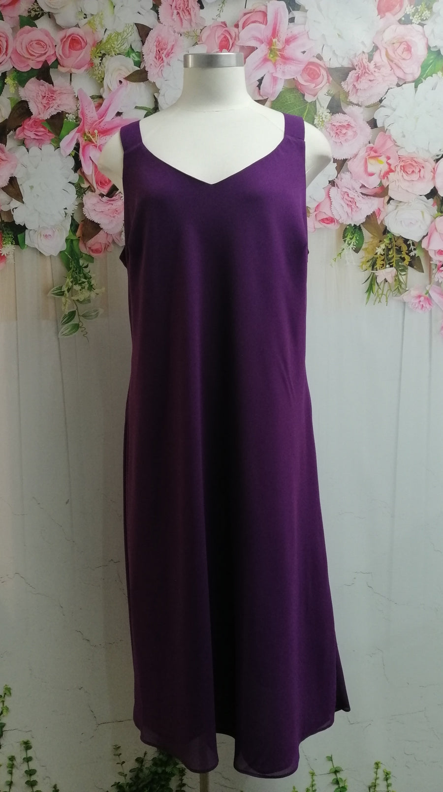 Swish Georgette Dress - Grape - Fashion Focus
