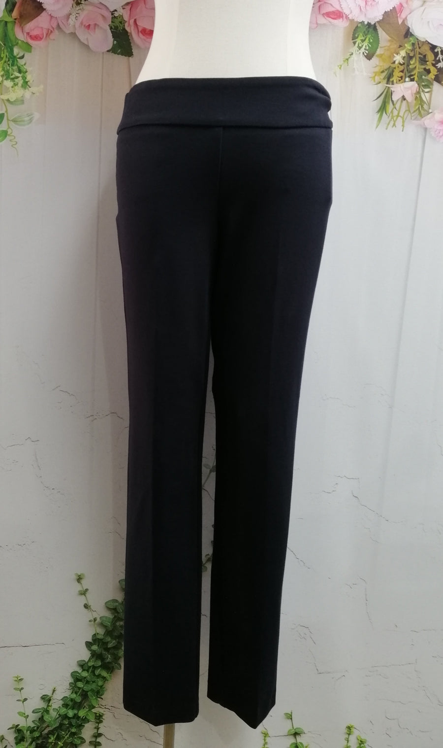 Up Tapered Pants - Navy (562) - Fashion Focus