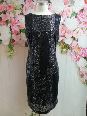 Frank Lyman Navy Knit Dress - Sequin - Fashion Focus