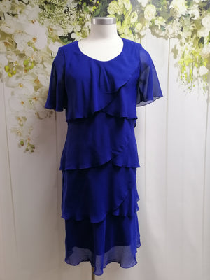 Vivid Chiffon Layer Dress - Royal - Fashion Focus