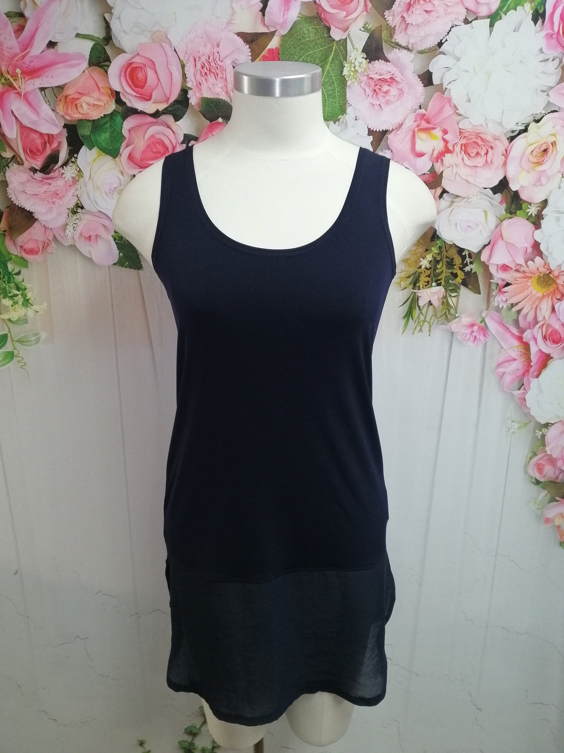 Bittermoon Long Layering Cami - Navy - Fashion Focus