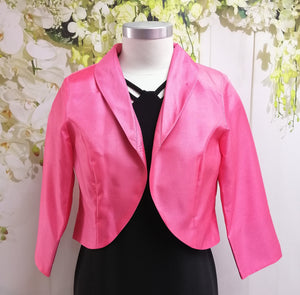 LS Collection Crop Jacket Pink (SB22 PJI) - Fashion Focus