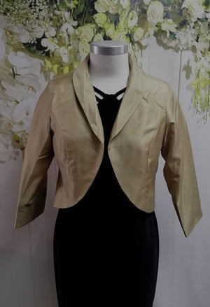 LS Collection Crop Jacket Green/Gold (SB634 PJI) - Fashion Focus