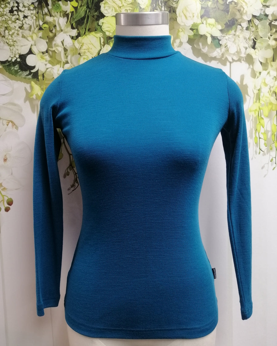 Bay Road Merino Turtle Neck Top - Deep Cove - Fashion Focus