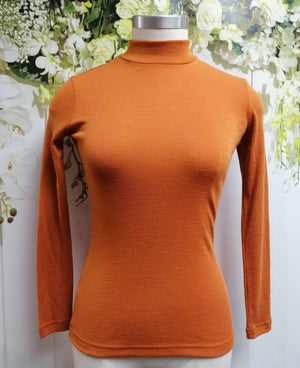 Bay Road Merino Turtle Neck Top - Smoke Tree - Fashion Focus