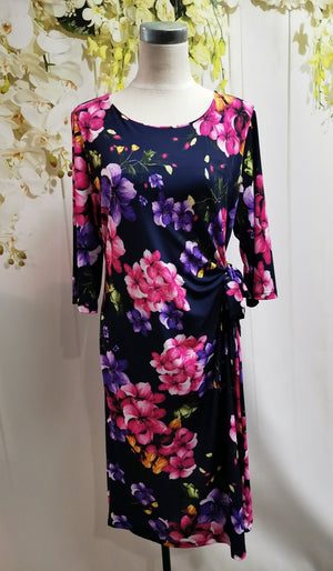 LS Collection Floral Side tie Dress - Fashion Focus