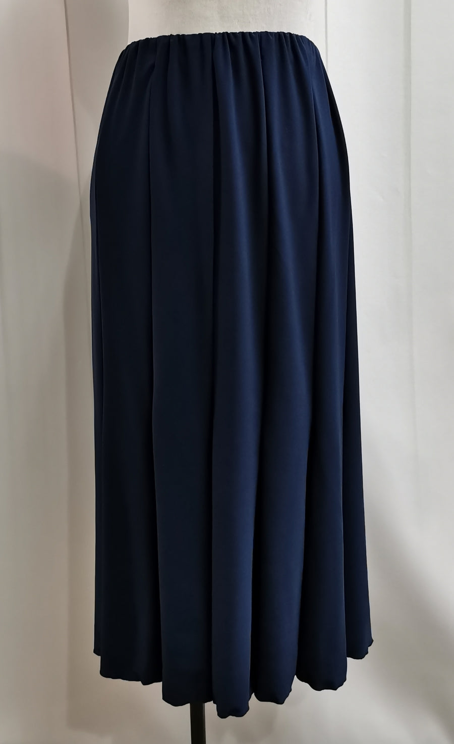 LS Collection Navy Gored Skirt - Fashion Focus