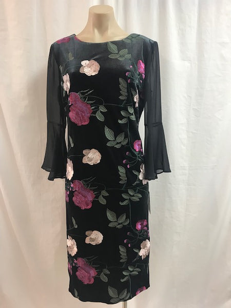 Frank Lyman Sheer Sleeve Dress