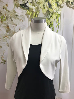 Frank Lyman Bolero Jacket - White - Fashion Focus