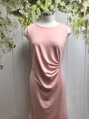 LS Collection Sleeveless Drape Dress - Pink - Fashion Focus
