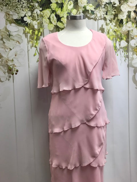 Vivid Layered Chiffon Dress - Blush - Fashion Focus