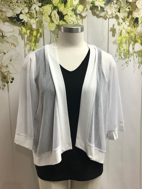 CC Mesh Cardi - White - Fashion Focus