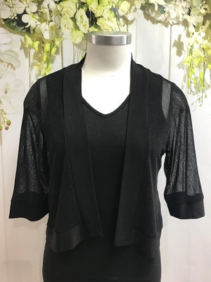 CC Mesh Cardi - Black - Fashion Focus