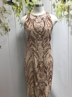 Romance Savage Beauty Dress - Rose Gold