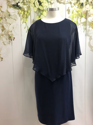 Lyman Overlay Dress - Navy - Fashion Focus