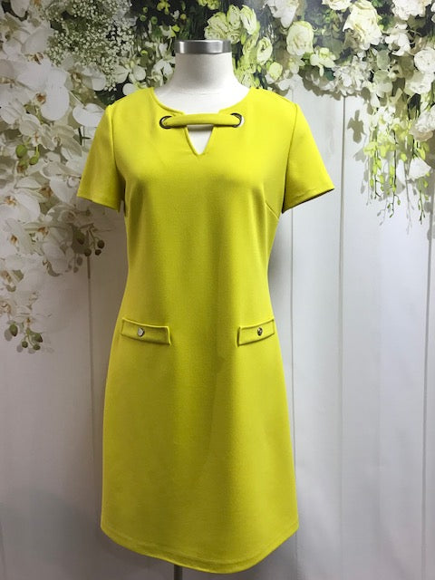 Frank Lyman Chartreuse Dress