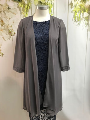 Yesadress Long Chiffon Jacket - Mocha - Fashion Focus