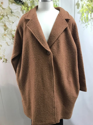 Fields Cocoon Coat -  Plus size - Fashion Focus