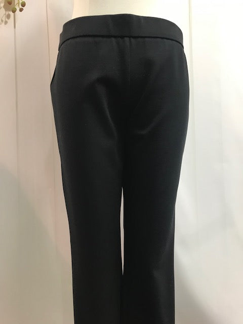 Up Plain Slim Leg Trouser - Black (...46) - Fashion Focus