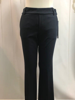 Up Plain Slim Leg Trouser - Navy (...46) - Fashion Focus