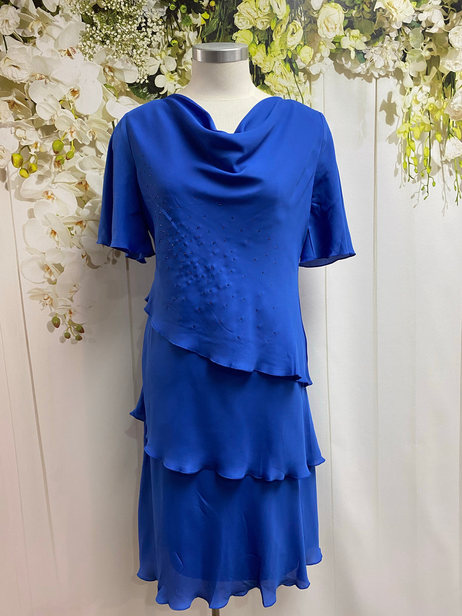 Yesadress Cowl Neck Layer Dress - Royal - Fashion Focus
