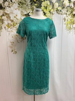 Yesadress Short Sleeve Lace Dress - Jade - Fashion Focus