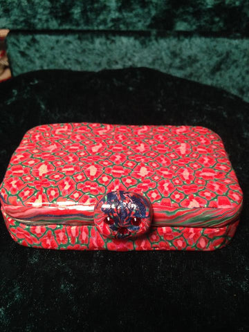 #131 Red Caned Trinket Box