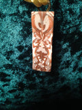 #135 Brown 4 Sided Totem Pendant