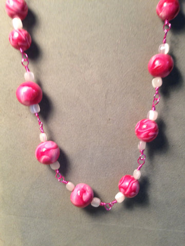 # 166  Beaded  Necklace