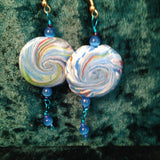 # 184 Blue Swirl earrings