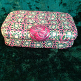 # 196  Pink Caned Trinket Box