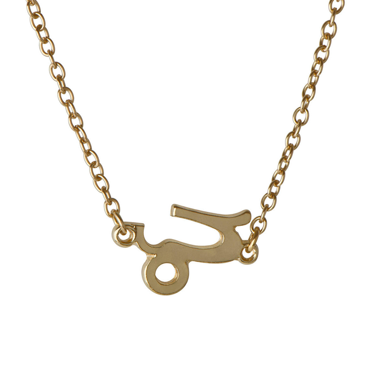 Moon Child Zodiac Capricorn Necklace - Gold