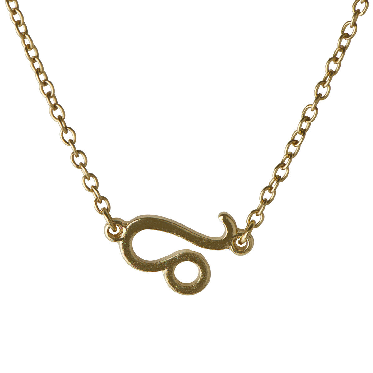 Moon Child Zodiac Leo Necklace - Gold