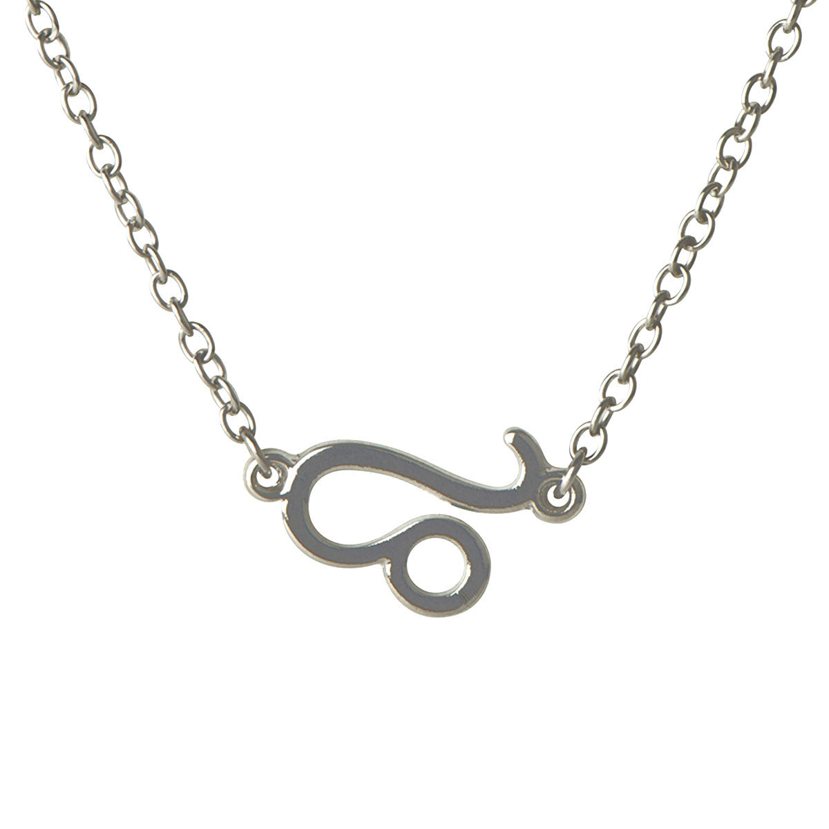 Moon Child Zodiac Leo Necklace - Silver