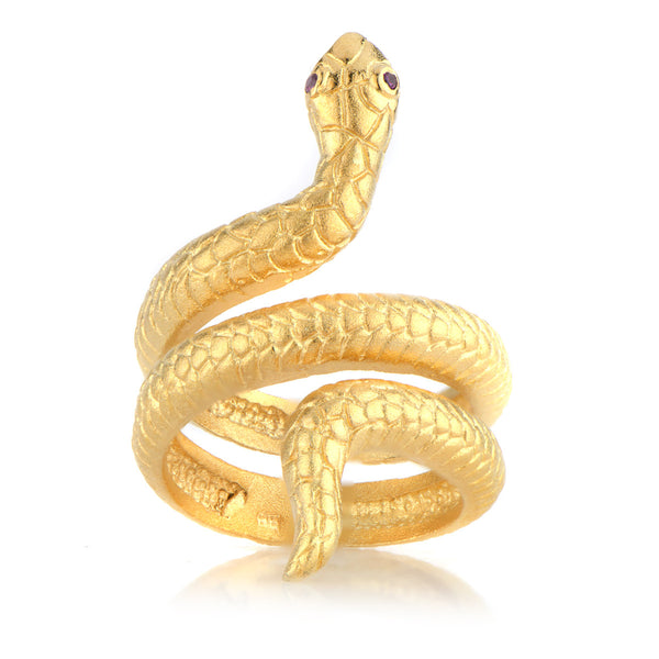 Bite It Snake Ring