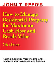 How to Manage Residential Property for Maximum Cash Flow and Resale Value, 7th edition book