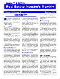Real Estate Investor's Monthly newsletter