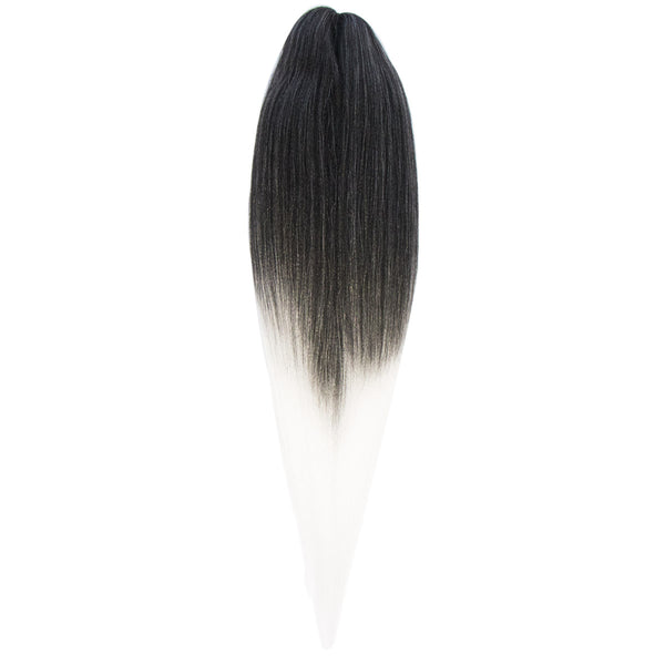 EZ BRAID T1B-60 NATURAL BLACK & WHITE GRAY OMBRE