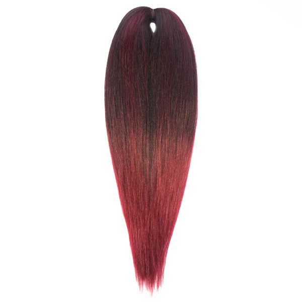 EZ BRAID T1B-900 NATURAL BLACK & BURGUNDY OMBRE