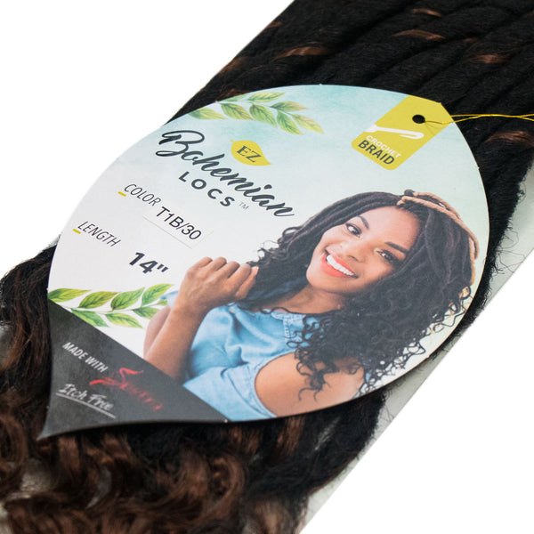 BOHEMIAN LOCS T1B / 30 NATURAL BLACK & LIGHT AUBURN