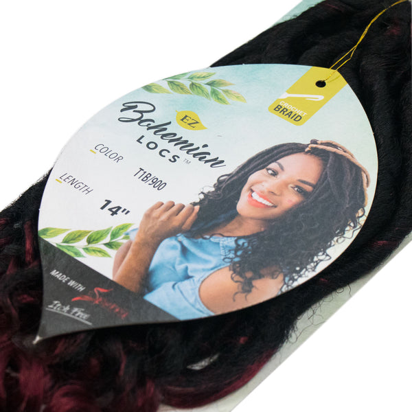 BOHEMIAN LOCS T1B / 900 NATURAL BLACK & BURGUNDY