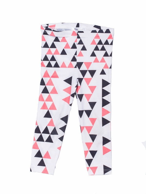Joah Love Capri Triangle Legging - White