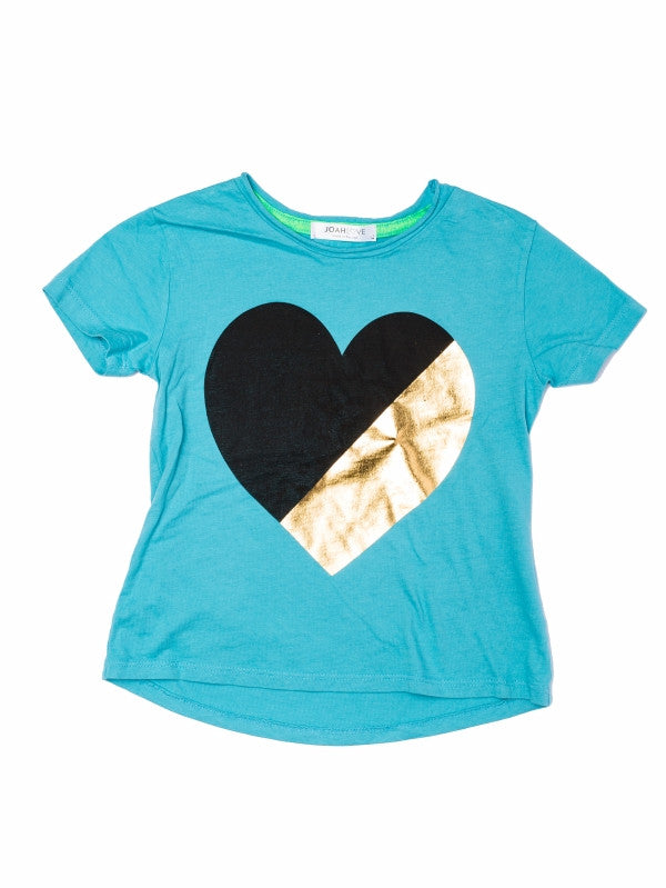 Joah Love Jayden Heart Tee - Harbor Blue