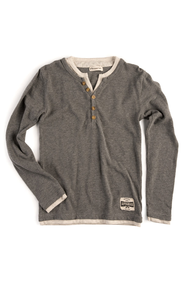Appaman Camden Long Sleeve Shirt Light Grey Heather