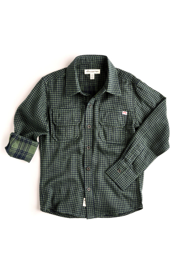 Appaman Four Leaf Gingham Mason Shirt